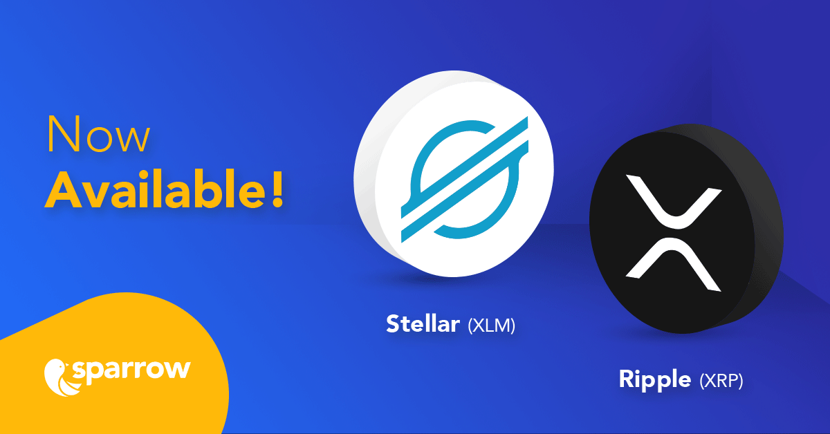 Stellar (XLM) & Ripple (XRP) now available!