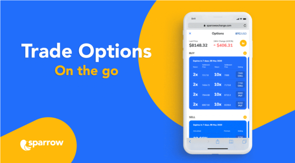 Trade crypto options on the go